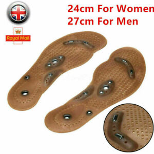 1 Pair Magnetic Massage Shoe Insoles Gel Pads Therapy Acupressure Foot Feet Care