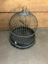 Antique Birdcage 1920's Round  All Metal Easy Clean. -Rare-