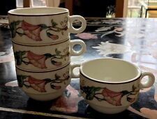 VILLEROY & BOCH Palermo morning glory  Set Of 4 Stackable  Demitasse Cups.