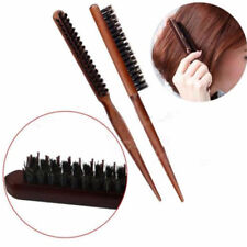 Teasing Back Hair Salon Barber Brush Tangle Comb Long Wooden Handle Tail Comb S