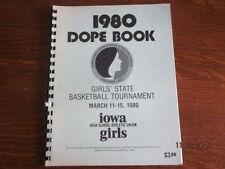 1980 Iowa High School Girls State Basketball Championship Dope Book