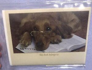 Bookplates- Dog On Book