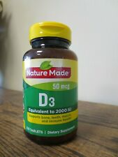 New! Nature Made Vitamin D3 50mcg  220 Tablets (6745)
