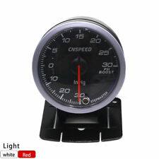 """2.5"""" 60MM Black Face Car Turbo Boost gauge PSI With White& AMBER Lighting New"""