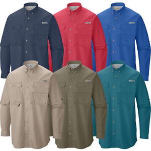 "New Mens Columbia PFG ""Bonehead"" Vented Long Sleeve Fishing Shirt"