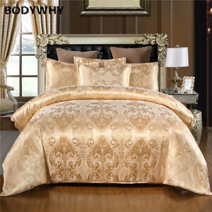 2020New jacquard luxury wedding 2/3 piece suit satin satin polyester quilt cover