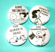 SET OF SNOOPY PEANUTS THE SMITHS INSPIRED PIN BADGES