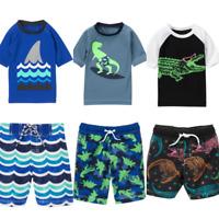 Gymboree Swimwear 4T 4 5T 5-6 Shorts Rash Guard Dino Shark Gator Red Swim Shop