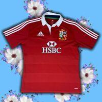 Adidas ClimaLite™ 2013 Australia 125 Lions HSBC Men's Rugby Jersey Size: L -