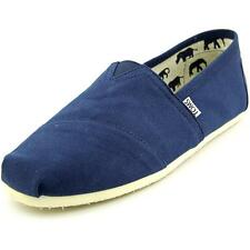 e73e598dfb5 Toms Shoes Mens 13 Navy Blue Classic Canvas Casual Loafers