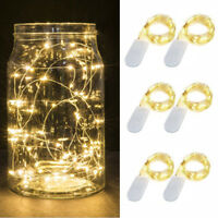6x 20/30 LED Button Cell Powered Silver Copper Wire Mini Fairy String Light