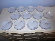 "12 ARLEN FINE CHINA Cathay Flora & Silver Trim 5 1/2"" Dessert Bowls 1476 Japan"