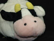 VINTAGE 1991 PRESS THESE TOY COMPANY QUILTED MOO COW BOWL PLUSTEK ANIMAL TOY