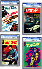 STAR TREK #4-5-6-7 CGC 7.5-7.0-6.5-5.0 *CLASSIC TOS TV SERIES* GOLD KEY 1969-70