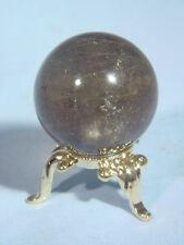 BUTW 30mm rutilated quartz sphere lapidary wicca 8997A