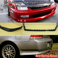 OE Style Front + Rear Bumper Lip (Urethane) Fit 97-01 Honda Prelude