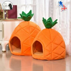Dog Cat Pet Igloo Pineapple Beds Warm Soft House Puppy Sleeping Cave Nest Kennel