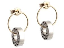 New 18K Yellow and White Gold Diamond Earrings, .44 Carats - Retail $4000