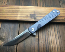 8.5''NEW CNC D2 Blade TC4 titanium alloy Handle Fast Open Folding knife CMB89
