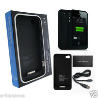 1900mAh Portable Power Pack External Backup Battery Charger Case For iPhone 4 4S