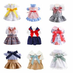Various Summer New Pet Dog Dress Clothes Cute Bow Princess Skirt Puppy Cat Dress