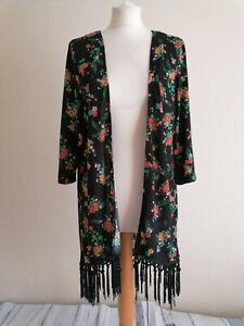 NEW Joe Browns Open Floral Tassel Cover Up Jacket Top UK 16/18