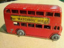 VINTAGE LESNEY MATCHBOX ORIGINAL NO 5 RED BUS