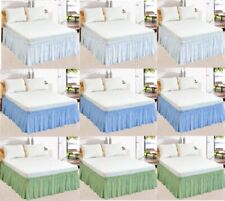 Bed Skirt Dust Ruffle Elastic Fit Wrap Around Bed Queen/King All Size/Colors