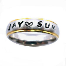 Free Stamps Personalized Name Ring Stainless Steel 6 mm