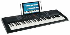 Digital 61-Tasten Keyboard E-Piano 300 Sounds & Rhythmen Recording Led Schwarz