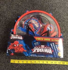 Marvel Ultimate Spider-Man Party Band 10 Piece Set NIB free shipping