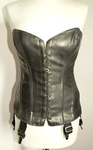 corset convient T40/42 Armory latex noir cousu 6 jarretelles overbust l xl 977-