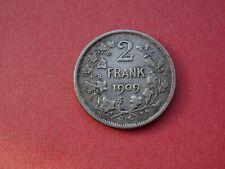 1909 2 Frank Francs NL Belgique Belgïe Leopold II Argent