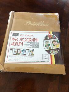 Sears Vintage Photo Album NIB Sweet Memories Nostalgic Harvest Gold 1970s