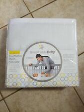 Breathable Baby Mesh Crib Liner Classic Standard Baby Crib White