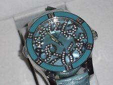 TECHNO COM by KC Ladies Watch w/ Genuine Diam & CZ's, .50 cwt - Baby Blue