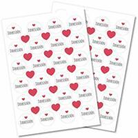 48 Dankeschön Herz Danke Aufkleber 40mm  Sticker Etiketten Hochzeit Kommunion