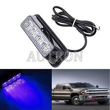 1x 4LED Vehicle Flash Grill Strobe Emergency Warning Side net light 12/24V Blule