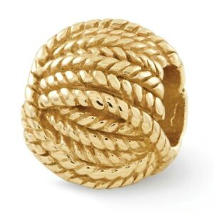 Ball of Yarn Bead .925 Sterling Silver Gold Plated Reflection Beads