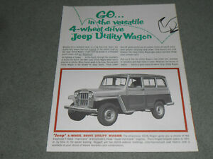 1961 (?) JEEP UTILITY WAGON BROCHURE / CATALOG with CJ-5, FC-170, PICKUP TRUCK +