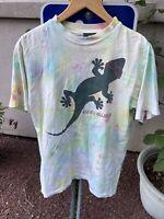 Vintage 90's Double Sided Gecko Tie Dye T-shirt Size Medium