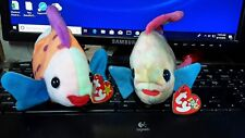Retired Beanie Babies Aruba and Lips with Tags Tropical Fish Lot of 2