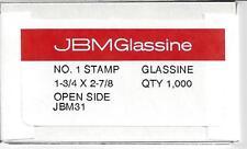 Box of 1000 NEW JBM #1 Glassine Envelopes 1-3/4 x 2-7/8 FREE U.S. SHIPPING