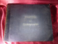 Antique PORTFOLIO OF PHOTOGRAPHS Book - John L Stoddard 1894 - Leather bound