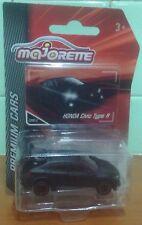 Majorette Premium Cars HONDA CIVIC TYPE R Black 1:64 Diecast New