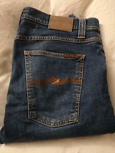 Nudie Lean Dean Jeans Bay Blue 34x34