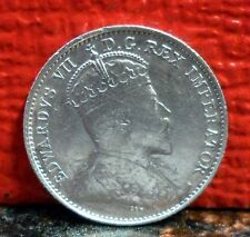 Beautiful Rare High Grade 1903 H over H with Die Crack Silver 5 Cent from Canada