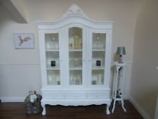 French Style Display Cabinet - Three Door Shabby Chic Display Unit