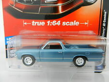 2017 AUTO WORLD 1:64 Deluxe 1A = BLUE 1967 Chevy El Camino *NIP*