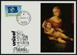 United Nations Vienna 2 on UNICEF Card, Art, Flag